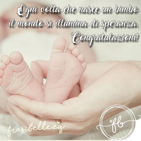 frasi per bambini appena nati